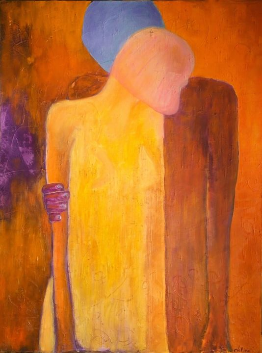 """Painting titled """"Here"""" by Evelina Spassova, Original Art, Oil"""