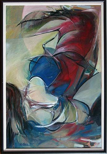 """Painting titled """"angel"""" by Dinu Manole, Original Art,"""