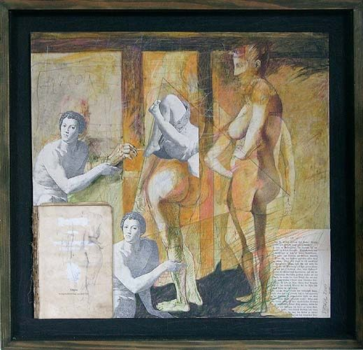 """Painting titled """"time"""" by Dinu Manole, Original Art,"""