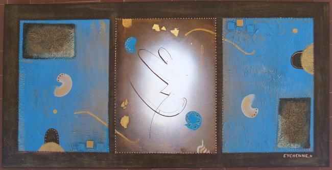 FOR EVER - Painting,  120x60 cm ©2008 by Véronique Eychenne -