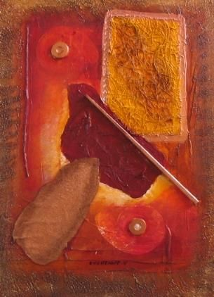COLLAGE - Painting,  40x30 cm ©2006 by Véronique Eychenne -