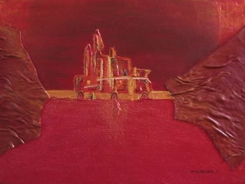 MIRAGE - Painting,  30x40 cm ©2006 by Véronique Eychenne -