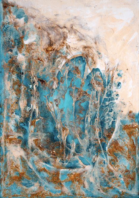 """Painting titled """"Flow"""" by Fabiana Vaccarezza, Original Art, Acrylic Mounted on Stretcher frame"""