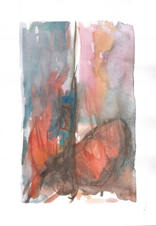 in motion - Painting,  10x7 in, ©2004 by Fabian Guerrero -