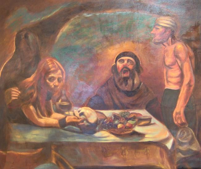 judas - Painting,  39.4x47.2 in, ©2008 by Fabian Guerrero -