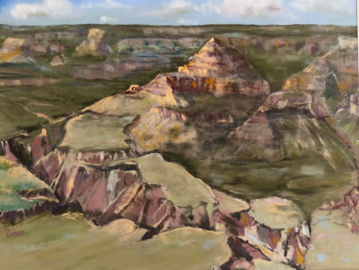 Le grand-canyon - Painting,  80x60 cm ©2014 by Munro -                        Nature