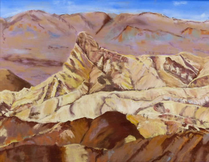 Death-valley - Painting,  80x60 cm ©2014 by Munro -