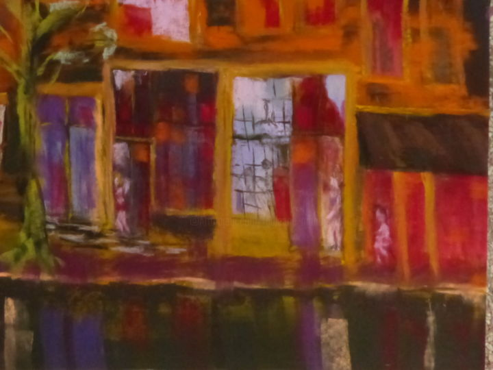 quartier rouge - Painting,  50x70 cm ©2014 by Munro -