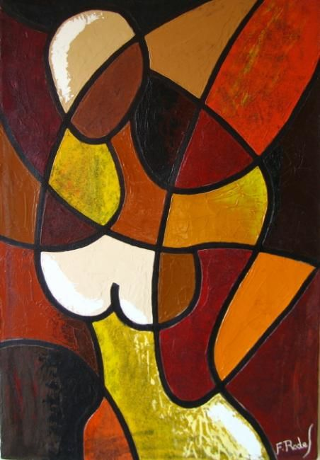 Painting,  38 x 55 cm ©1997 by Fabien Rodes -  Painting