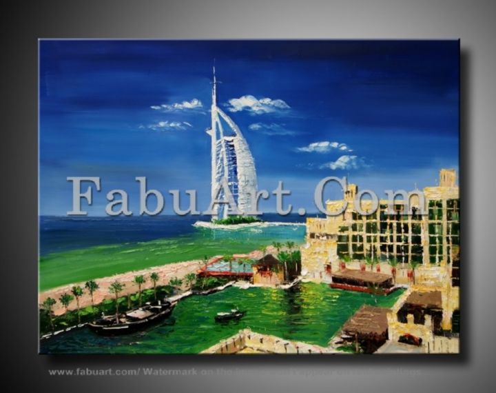 FabuArt Cityscape Painting - Painting,  0.4 in, ©2013 by Amanda Eck -