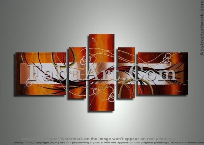 Brown Abstract Art Painting 262 - 62 x 30in - Painting, ©2013 by Amanda Eck -                                                                                                                                                                                                  brown art painting, brown abstract art, brown oil paintings, brown artworks
