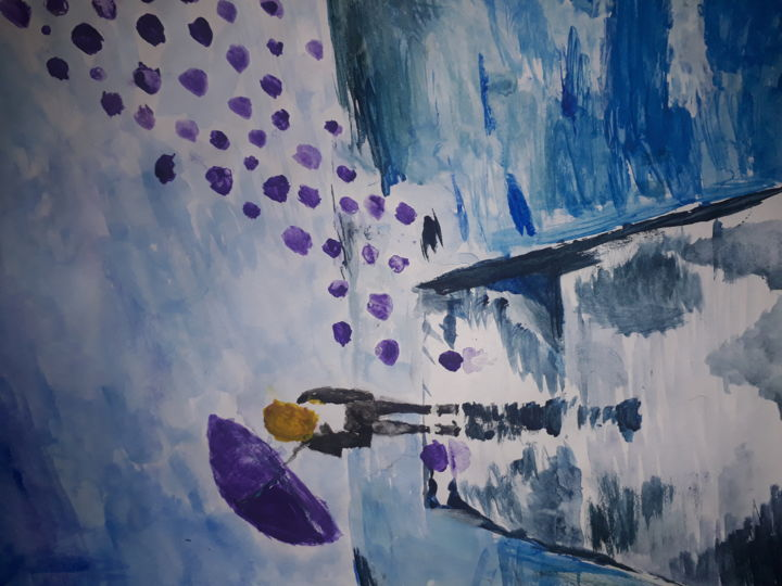 """Painting titled """"Shattered sorrows"""" by faezehahmadi510, Original Art, Watercolor"""