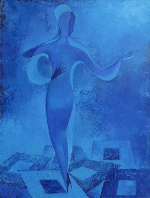 Twilight dance - Painting,  80x60 cm ©2010 by Nick Falafivka -                            Contemporary painting, Oil Painting - Abstract