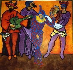 """Painting titled """"Divina comedia"""" by Jaime Falcon Magana, Original Art, Other"""