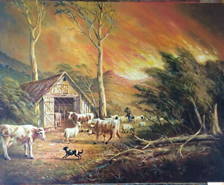 """Painting titled """"""""Taking the life-st…"""" by Jos Kivits, Original Art, Oil"""