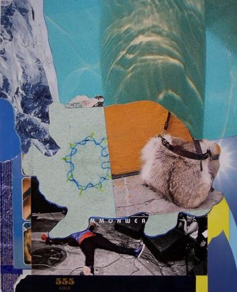 """Collages titled """"MMONWEA"""" by F Allen Moss, Original Art,"""