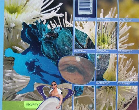 """Collages titled """"Secure Item # in Bl…"""" by F Allen Moss, Original Art,"""
