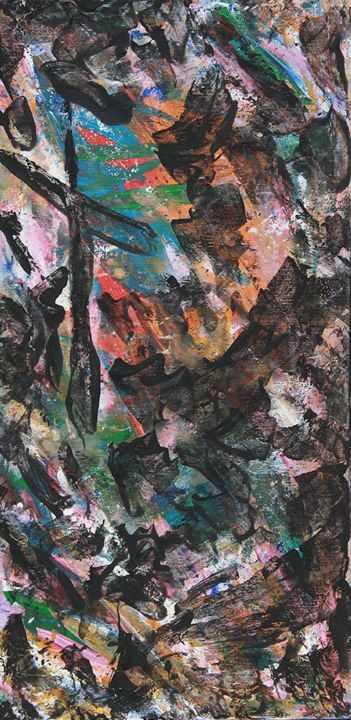 INNOVATIVE ART N° 01 2015 - Painting,  50x25x5 cm ©2015 by Stefano Fanara -                                                        Contemporary painting, Canvas, Abstract Art