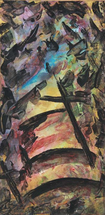 INNOVATIVE ART N° 04 - Painting,  50x25x5 cm ©2015 by Stefano Fanara -                                                        Contemporary painting, Canvas, Abstract Art