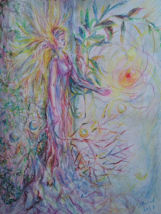 """Painting titled """"rooted.jpg"""" by Fariel Shafee, Original Art,"""
