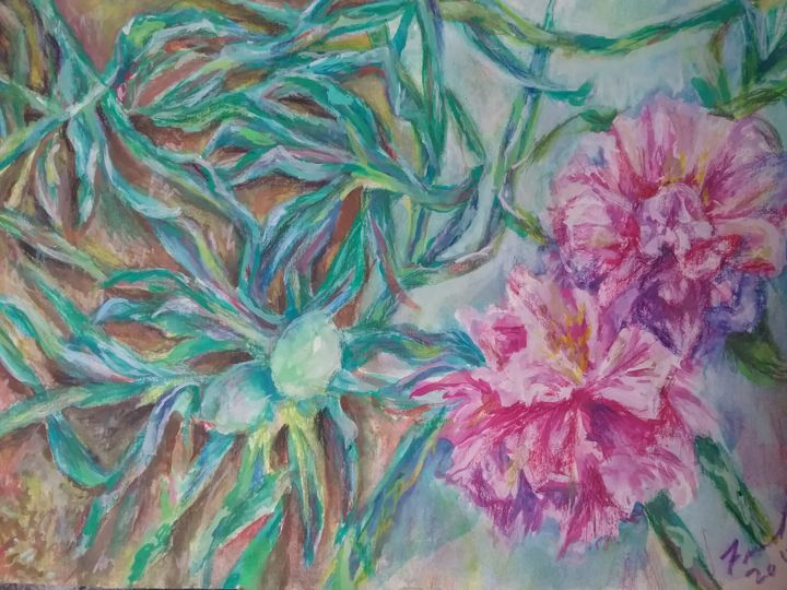 """Painting titled """"morning glory"""" by Fariel Shafee, Original Art,"""