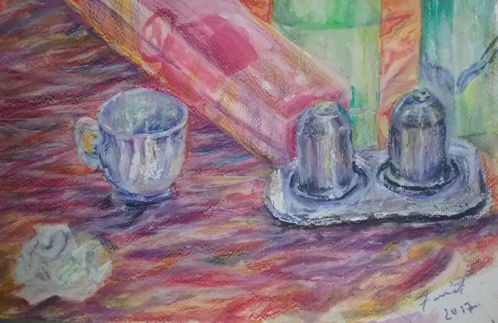 """Painting titled """"my table 2"""" by Fariel Shafee, Original Art,"""