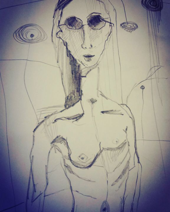 """Drawing titled """"img-20160409-144424…"""" by Farnaz Shoar, Original Art, Other"""