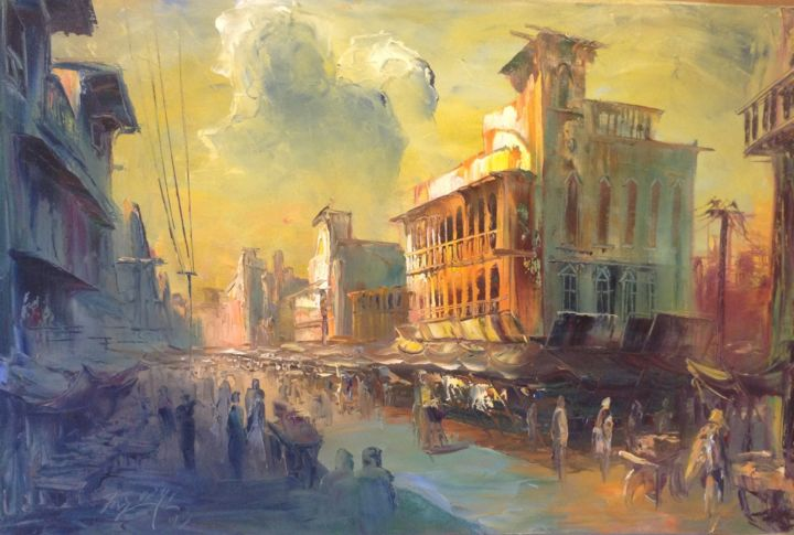 """Painting titled """"Majestic fantasy"""" by Farooqi, Original Art, Oil"""