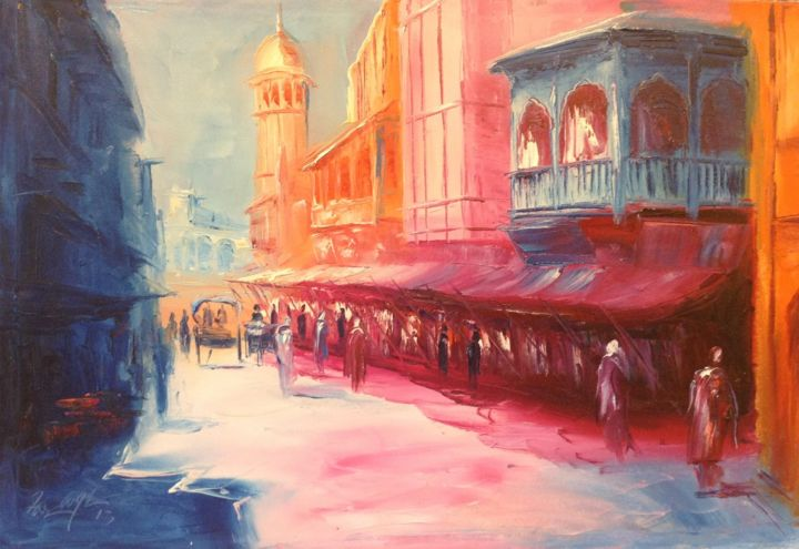 """Painting titled """"The colour song"""" by Farooqi, Original Art, Oil"""