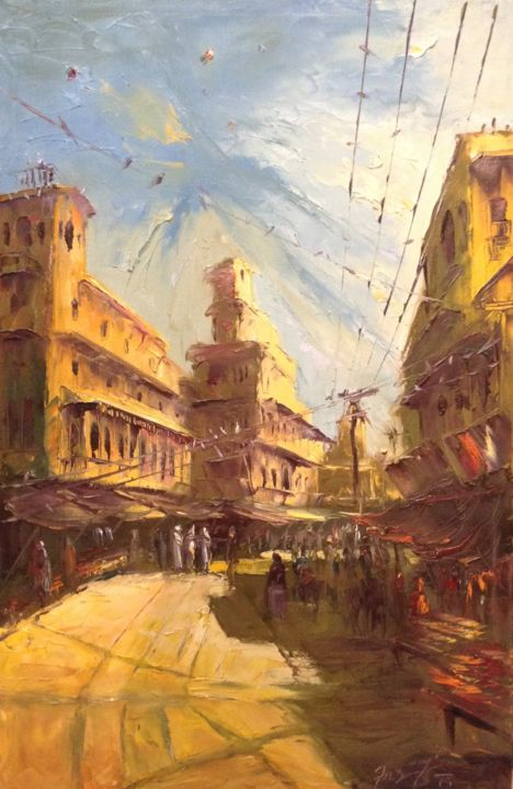"""Painting titled """"The dawn of social…"""" by Farooqi, Original Art, Oil"""