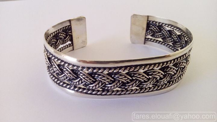 bracelet tresse en argent bijoux mod rne pour femme bijoux artisanaux fares el ouafi. Black Bedroom Furniture Sets. Home Design Ideas