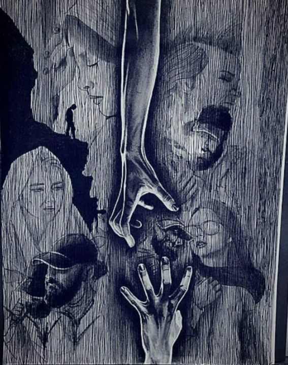 """Drawing titled """"Hope"""" by Baher, Original Art,"""