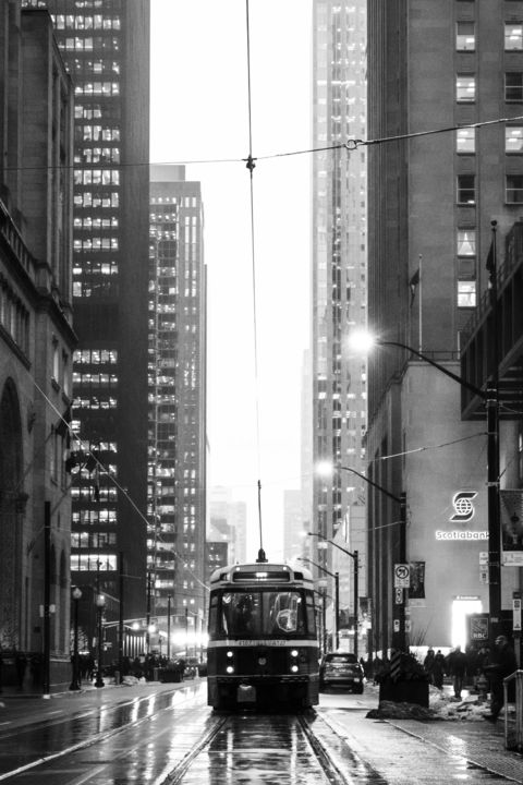 """Photography titled """"Toronto city in bla…"""" by Farzad Frames, Original Art, Digital Photography"""