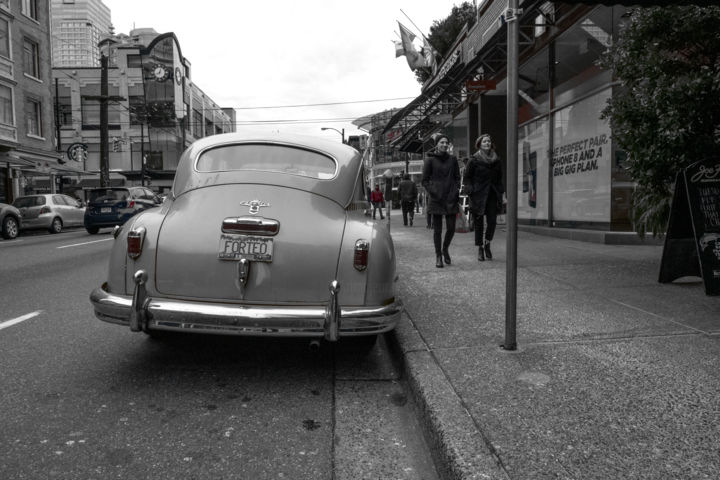 """Photography titled """"Classic car in the…"""" by Farzad Frames, Original Art, Digital Photography"""