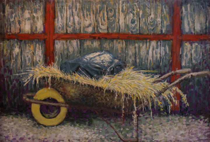 """Painting titled """"Construction trolle…"""" by Fatmir Brezanin, Original Art, Oil"""