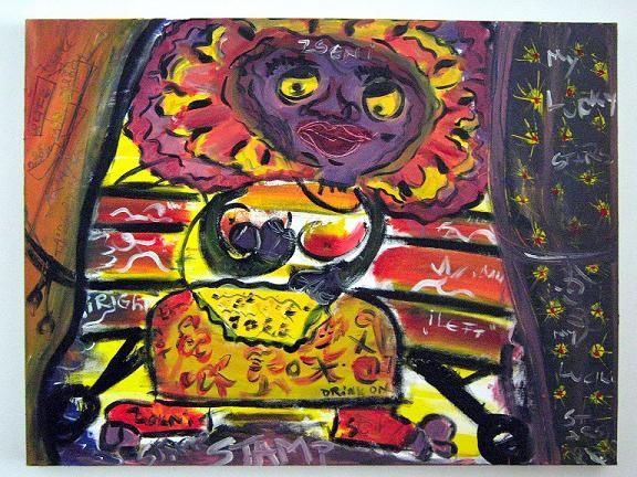 """Painting titled """"Benched"""" by Fazi Art, Original Art,"""