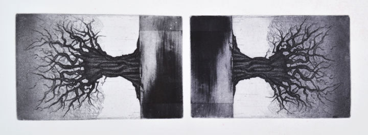double - Printmaking,  19.7x27.6x0.4 in, ©2014 by François Crinel -