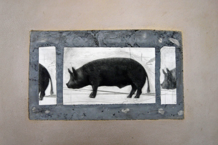 Three little pigs - Printmaking ©2008 by François Crinel -