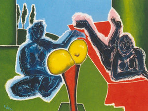 Les citrons - Painting ©2007 by Francis Denis -