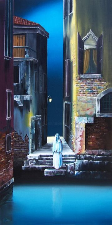 """Painting titled """"A Leap of Faith"""" by Dj Fedeli, Original Art, Oil"""