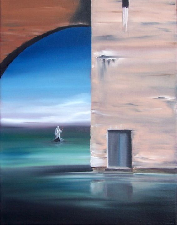 """Painting titled """"Solace"""" by Dj Fedeli, Original Art, Oil"""