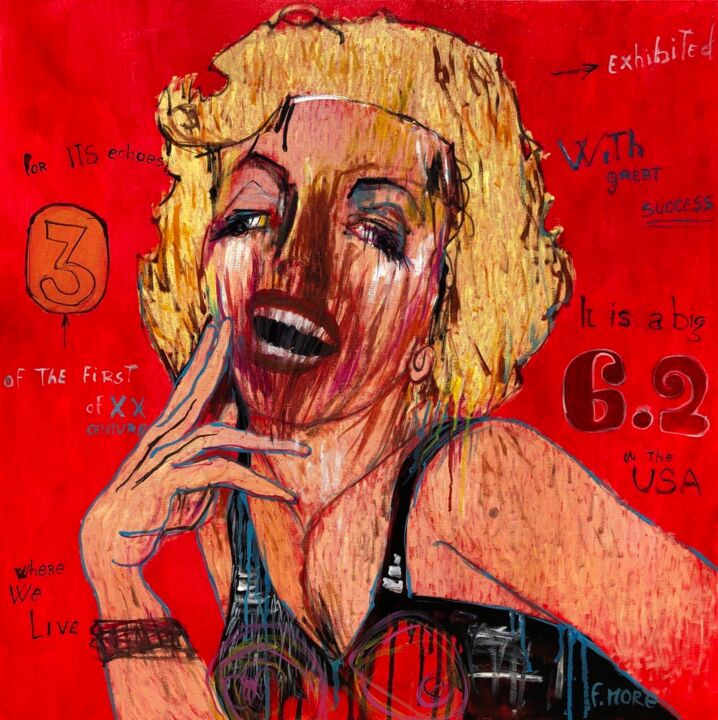 """Painting titled """"Marilyn"""" by Feliciana More, Original Art, Oil"""