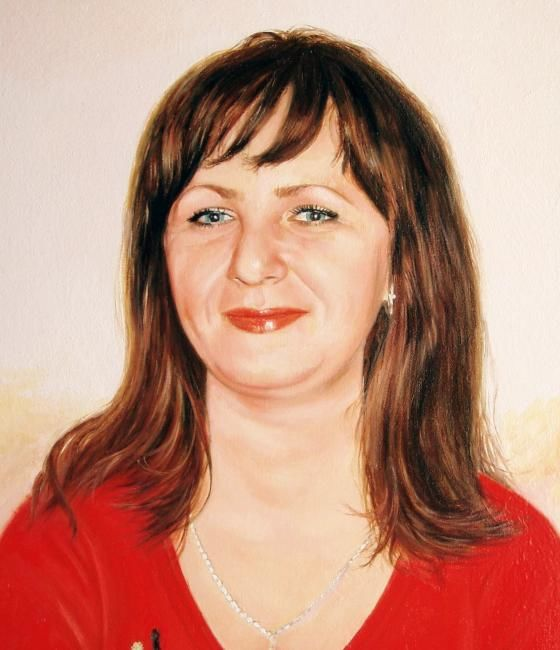 Катерина - Painting,  35x45 cm ©2011 by FesenkoS -                        Portraiture