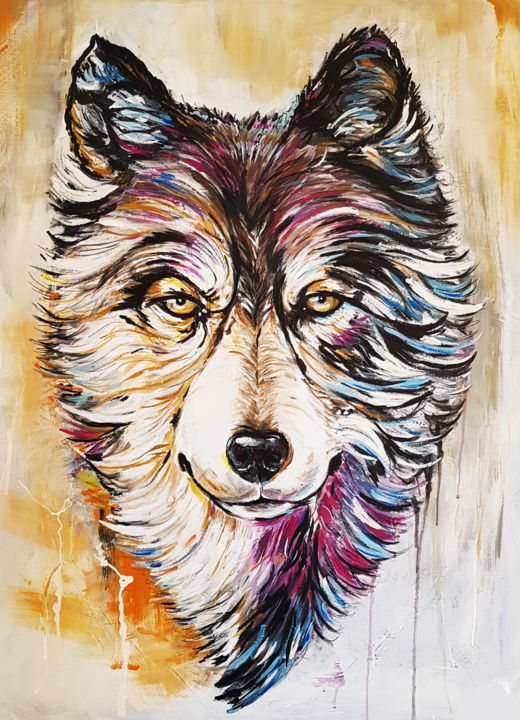 The Wolf Painting By Fgworks Geutjes Artmajeur
