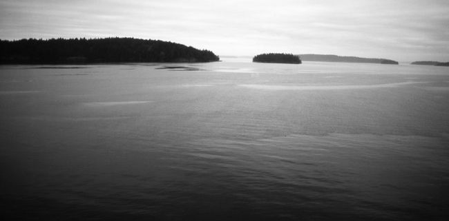 Strait of Georgia-2 - Photography,  15x30 cm ©2012 by Francois-Henri Louchet -