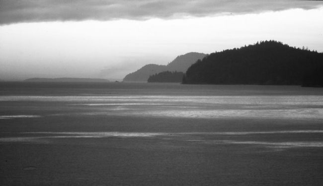 Strait of Georgia-3 - Photography,  16x30 cm ©2012 by Francois-Henri Louchet -