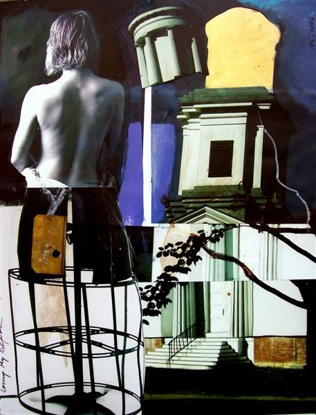 """Collages titled """"Losing My Religion"""" by Florin Firimita, Original Art,"""