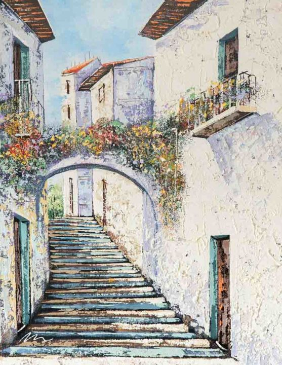"""Painting titled """"Painting of Spain,…"""" by Filip Petrovic, Original Art, Acrylic"""