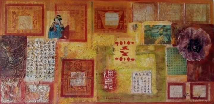 """Painting titled """"Chinese abstract oi…"""" by Filip Petrovic, Original Art, Oil"""