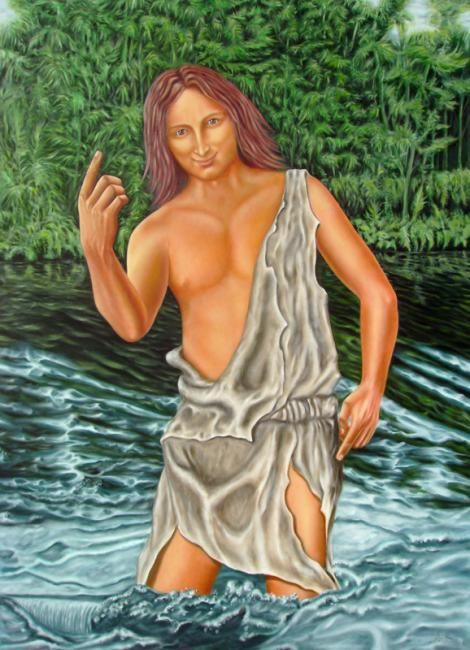 John The Baptist - Painting,  55.1x39.4 in, ©2007 by Filipe Paiva -